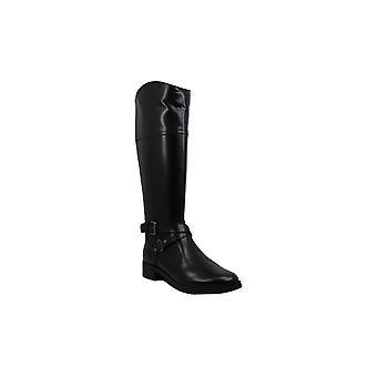 Bandolino Womens Jimani Leather Round Toe Knee High Riding Boots