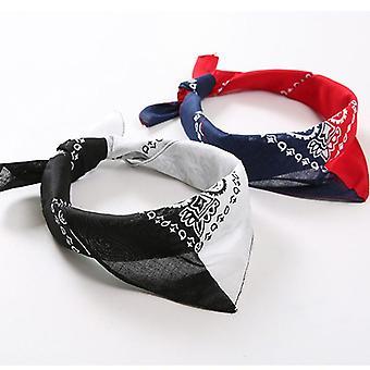 Double Color Block 50x50cm Unisex Cotton Pocket Square Scarf/headband Bandana