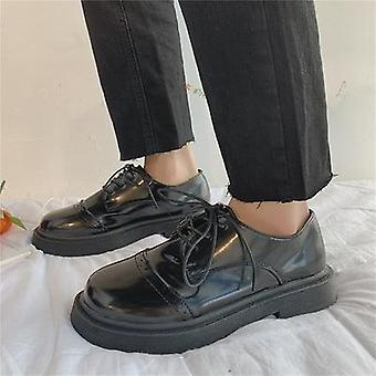 Retro Lace Small Shoes Fashion British College Wind Oxford Shoes Women's Flat