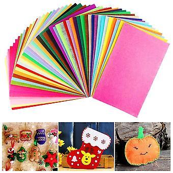 Aipaide 50pcs tela de fieltro hojas de tela no tejidas suave 50 hojas de fieltro de color mezclado surtido para diy,crafts,