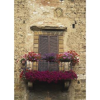 Flower Covered Balcony PosterPrint
