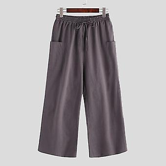 Široké nohavice s nohavicami