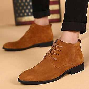 Boots Business Chukka Mens Boots High Top Casual Shoes Outdoor Leather Mens