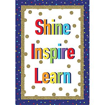 Cartel de Sparkle + Shine Shine Inspire Learn