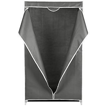 Vaatekaappi tekstiili vaaleanharmaa 80x50x160cm