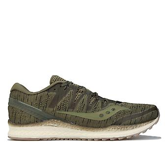 Men's Saucony Freedom ISO 2 Running Shoes in Green