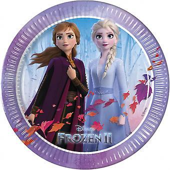 Feestborden Frozen 2 Meisjes 20 Cm Karton Paars 6 Stuks