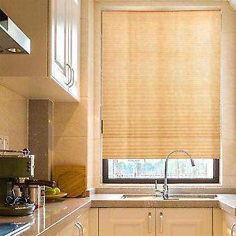 Self-adhesive Pleated Blinds Half Blackout Bathroom, Window Curtains Shades