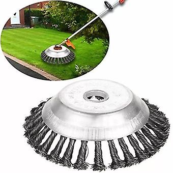 Steel Wire Trimmer Head Rounded Edge Weed Trimmer Head Grass Brush