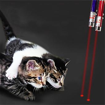 Creative Pet Led Laser Toy Cat Pointer Pen Interactive Random Color (al azar