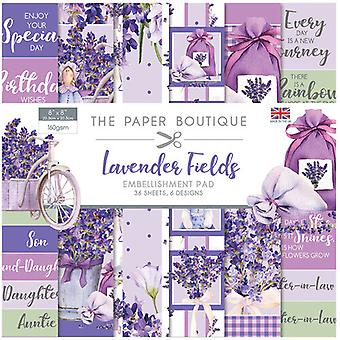 The Paper Boutique - Lavender Fields Collection - 8x8 Embellishments Pad