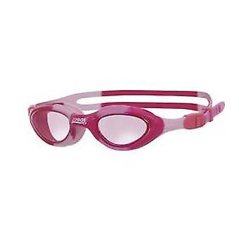Zoggs Super Seal Junior Swim Goggle - Tinted Lens -Pink Camo