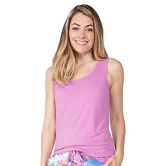 Cyberjammies Aimee 4834 Femme & s Aubergine Modal Vest Pyjama Top