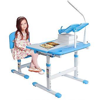 Children's Study Desk Chair Set, Ergonomic Kids Desk Chair Height Adjustable Children Study Desk