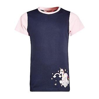 New BATTLES Kids' Little Unicorn T-Shirt Navy