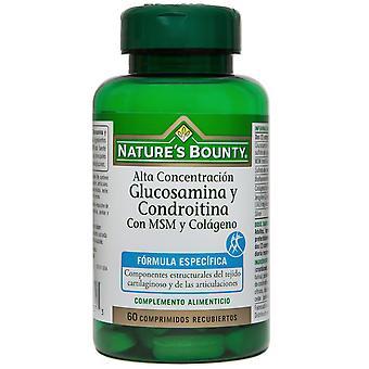 Nature's Bounty Glusomine und Chondroitin  Msm  Kollagen 60 Tabletten