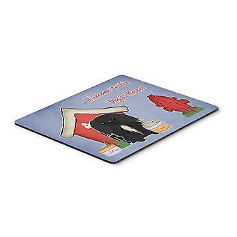Caroline'S Schätze Hundehaus Sammlung Pekingese schwarze Maus Pad, Multicolor, 7.75X9.25 (Bb2861Mp)