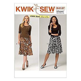Kwik Sew Sewing Pattern 4137 Misses Skirts Size XS-XL