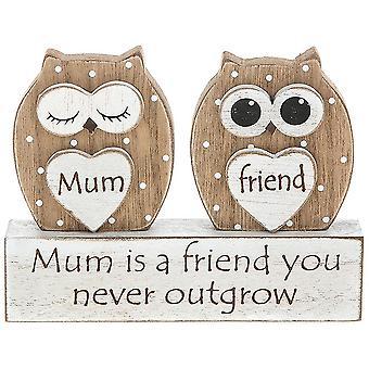 Joe Davies Mum A Friend You Never Outgrow Dreamy Owl Desk Table Plaque