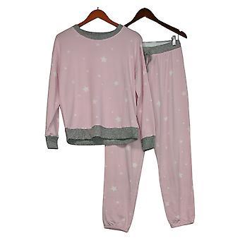 Splendid Women's Printed Hacci Pullover Pajama Set Pink A391480