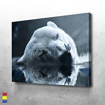 Lienzo de oso polar