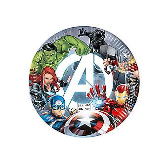 8 Assiettes en carton Avengers 23 cm
