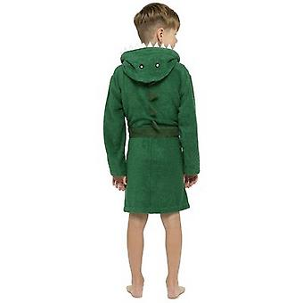 Tom Franks Boys Dinosaur Hooded Dressing Gown