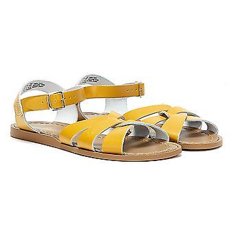 Salt Water Original Womens Mustard Yellow Sandals