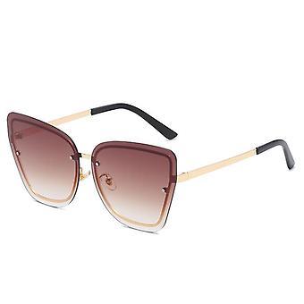 Retro semi-rimless polarizované slnečné okuliare pre mužov a ženy y797
