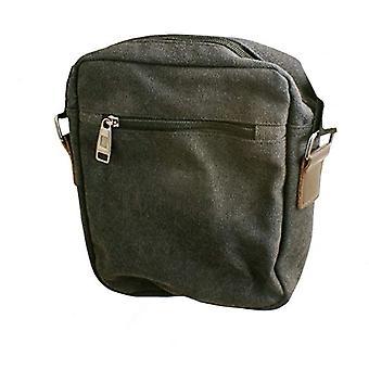 SYSTEM-S Universal Pockets Umhangetasche Schultertasche mit 5 Fachern Messenger Bag, 24 cm, Black (Schwarz)(2)