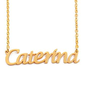 KL Kigu Caterina - Women's necklace with name, name, fashionable jewel, gift idea for girlfriend, mom, sister