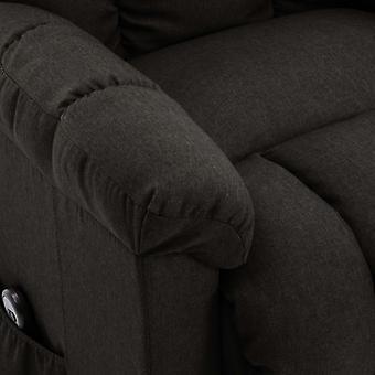 fotel vidaXL ze stand-upem z ciemnobrązową tkaniną