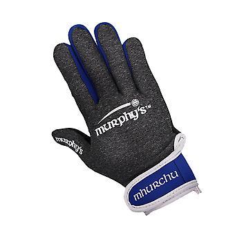 Murphyho gaelové rukavice 9 / Stredne šedá / Modrá / Biela