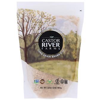Castor River Farms Rice Brown Long Grain, Case of 6 X 32 Oz