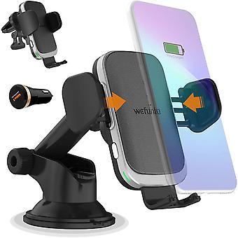 HanFei 15W Caricatore Wireless Auto Caricabatterie Ricarica Veloce Sensore Automatico per LG V50,