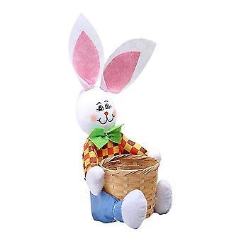 Easter Basket Easter Bunny Basket Eggs Candy Gift Box Storage Rabbit Bag Party Decoration Home