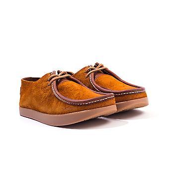 Yogi Footwear Willard Reverse Leather Shoes - Chestnut Brown