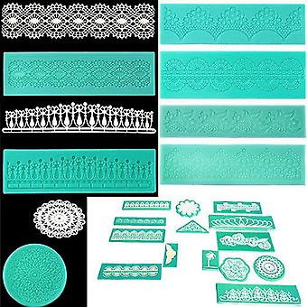 Silicone Lace Shaped Mold Sugar Craft Embossing Mould Fondant Cake Tools