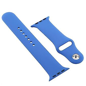 Silicone watch band For Apple Watch series 5 and 4 40 mm / 3 and 2 and 1 38 mm dark blue