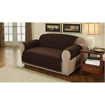 Changing Sofas Soft Quilted 2 Seater Sofa Cover Protector Throw, Chocolate Brown