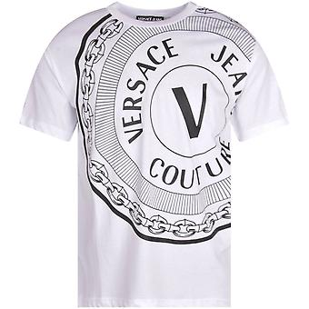 Versace Jeans Couture Printed Round Logo White/black T-shirt
