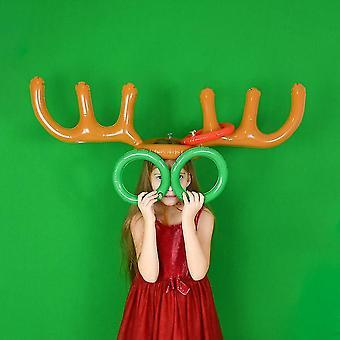 Corna gonfiabili in pvc Forma giocattolo- Cappello e anello Toss