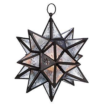 גלריית פנס נרות כוכבים רב-נקודתי תלוי אור, חבילה של 1