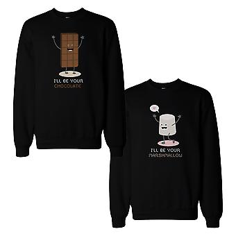 Chocolate And Marshmallow Couple Sweatshirts Matching Sweat Shirts