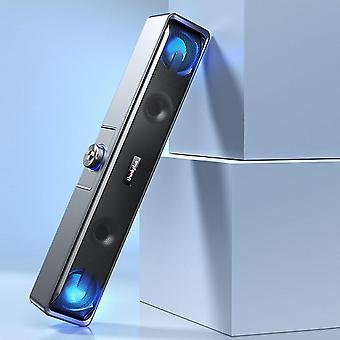 Black wireless bluetooth computer speaker USB active wired computer soundbar mini subwoofer