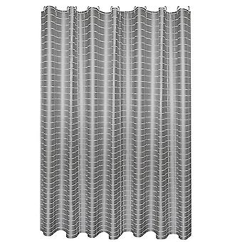 Shower curtains waterproof wrinkle-resistant shower curtain 240x200cm silver