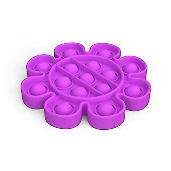 Push Pops Bubble sensorisches Spielzeug für besondere Bedürfnisse Autismus Anti-Stress (Blume - Lila)