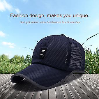 Made Men Baseball Cap Polyester Fiber Solid Color Mesh Outdoor Sun Shade Cap