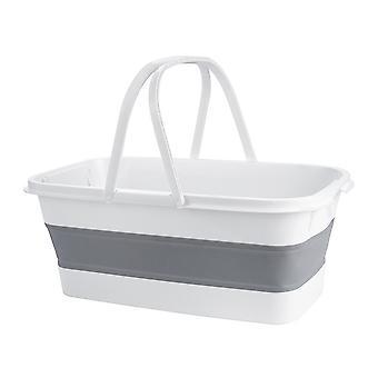 Faltbares tragbares Waschbecken, zusammenklappbarer Moppeimer, einziehbares Becken zum Angeln, Camping, Auto, Home