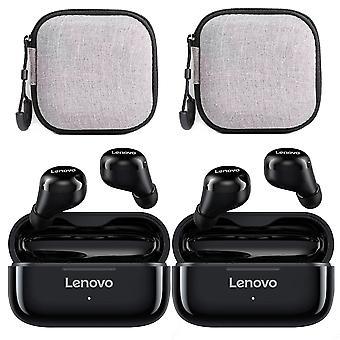 2 sett med Lenovo Lp11 trådløse øretelefoner hd stereo bt 5.0 headset med øretelefon sak